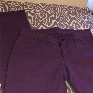 size 8 tall wine/purple wine colored pants